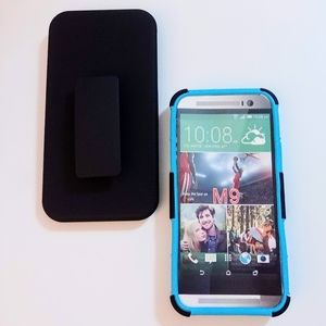 HTC ONE M9 Hybrid case with holster